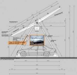 Solar Carport mit integrierter Werbung