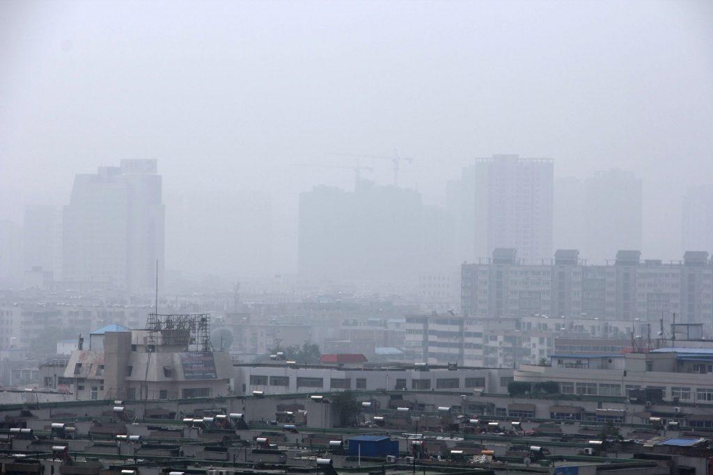 China Luftverschmutzung Corona