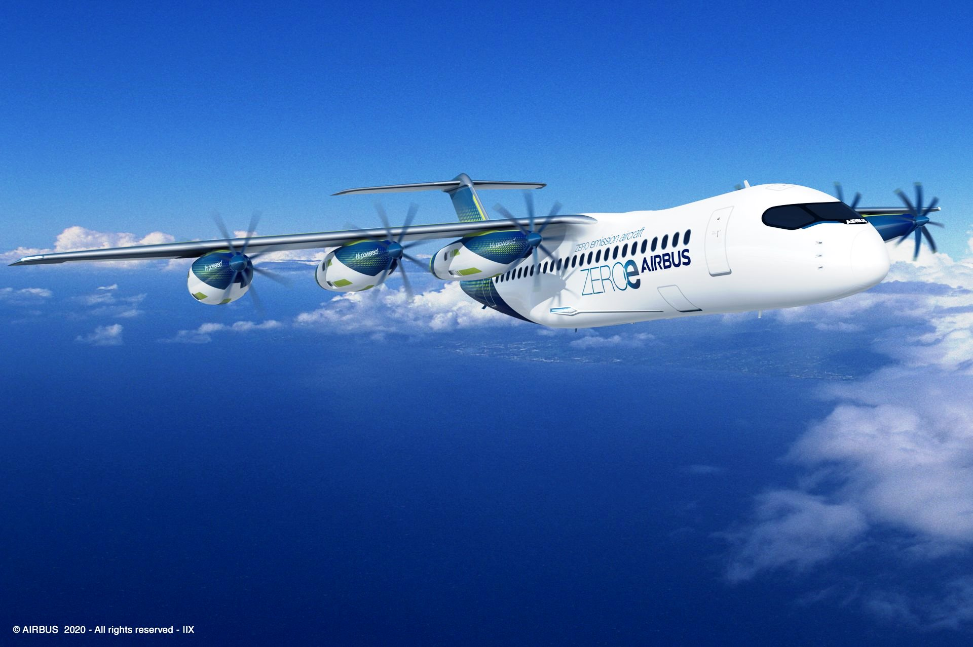Airbus-Wasserstoff-Flugzeug-mit-sechs-Propellern